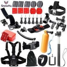 Gopro Accessories Set Helmet Harness Chest Belt Head Mount Strap for Go pro Hero 4 3+ 2 1 Sj4000 Xiaomi YI Sjcam  GS21