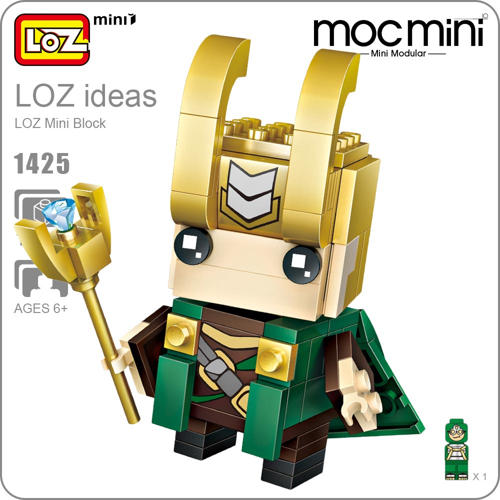 LOZ Mini Blocks Super Heroes Toys Action Figure Figurine Small Bricks Building Block Sets Assembly Toy Gift for Children 1425 loz diamond blocks dans blocks iblock fun building bricks movie alien figure action toys for children assembly model 9461 9462
