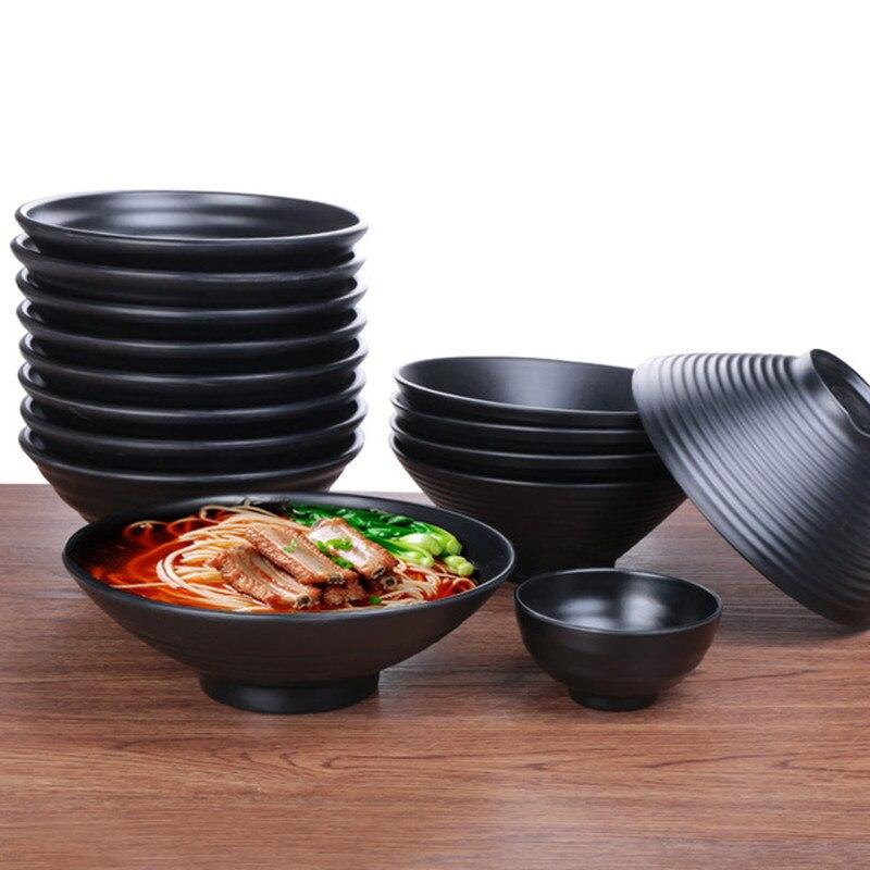 Black Melamine Bowls