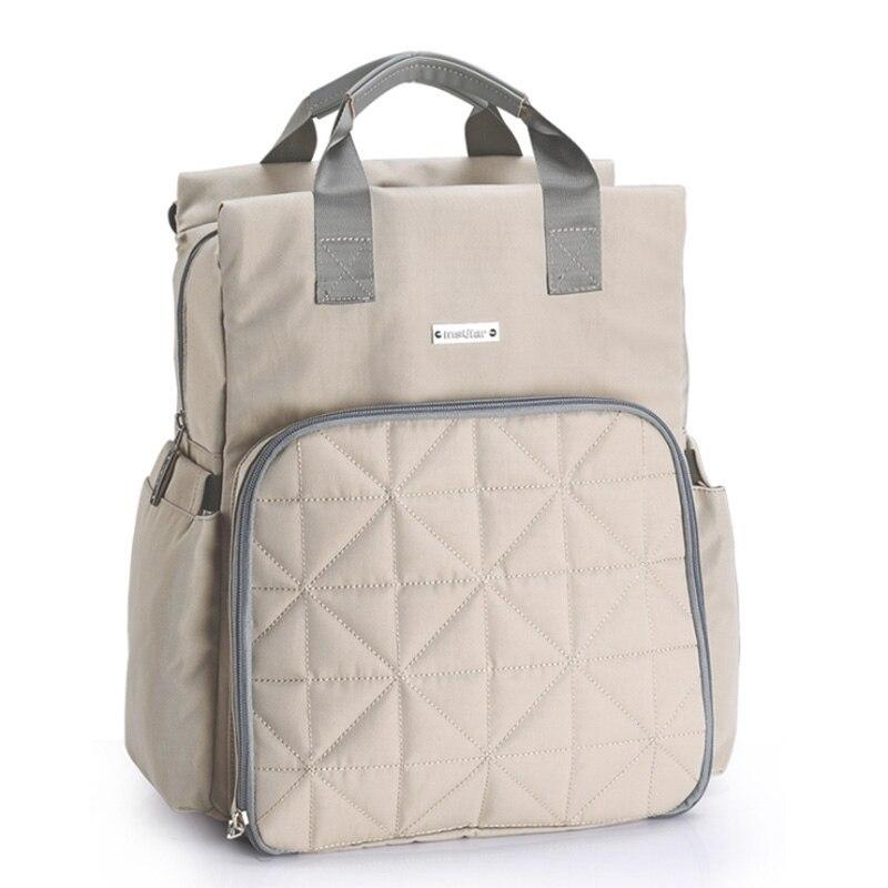 Bolsa de pañales para bebé mochila multifuncional impermeable bolsas de pañales de maternidad mamá viaje bolso cochecito mochila bebé pañal cuidado