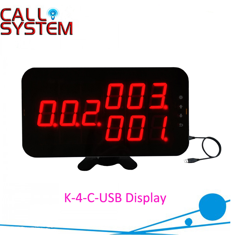 New Number calling dispaly receiver Counter Monitor connect to PC show calling information K-4-C-USB with English Sound Prompt information searching and retrieval