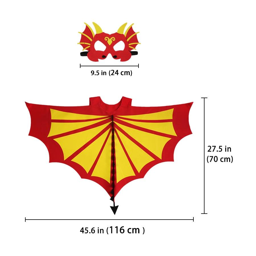 Eriline 120 * 70 cm punane-kollane šarjäär Dino tiibade mask - Kostüümid - Foto 4