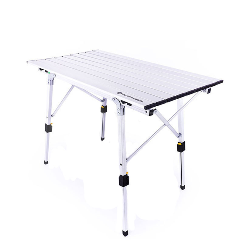 Height Adjustable Table Folding Silver Desk Portable Camping BBQ Hiking Traveling Outdoor Picnic Foldable AL Ultralight Tables