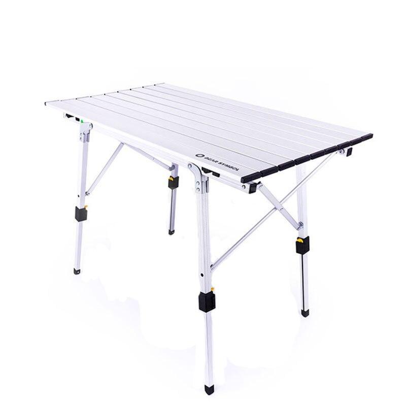 table en argent pliable en hauteur table ultraleger portable pour camping barbecue randonnee voyage pique nique en plein air
