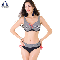 Plus Size Swimsuit Solid Swimwear Women Bikini Set Female Push Up Bathing Suit Biquini Women Swimsuit