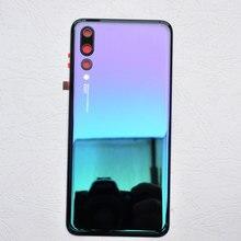ZUCZUG חדש זכוכית אחורי שיכון עבור Huawei P20 פרו סוללה כיסוי חזרה מקרה P20 פרו Задняя крышка Tylna okładka
