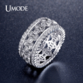 UMODE Vintage Cubic Zirconia Rings Platinum Plated Ring for Women Retro Jewellery Gift Bague Femme Acessorios Para Mulher UR0322