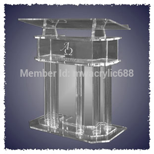 Pulpit FurnitureFree Shipping HOT SELL Beautiful Elegant Acrylic Podium Pulpit Lecternacrylic Pulpit Plexiglass