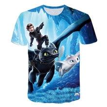 Футболка с 3d принтом «Как приручить дракона» футболка для мальчиков милые детские топы, футболка с героями мультфильмов Fille Nova От 3 до 16 лет Ajax