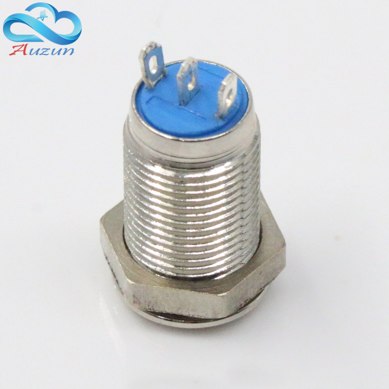 10 mm high self locking metal push button switch 1 normally open normally closed three feet in Switches from Lights Lighting