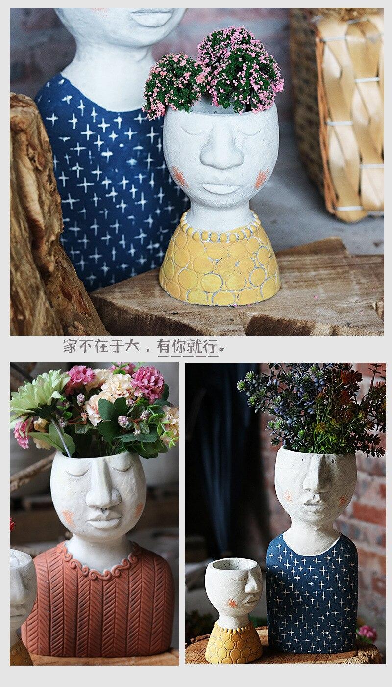 escultura ornamentos criativo vaso de flores vaso