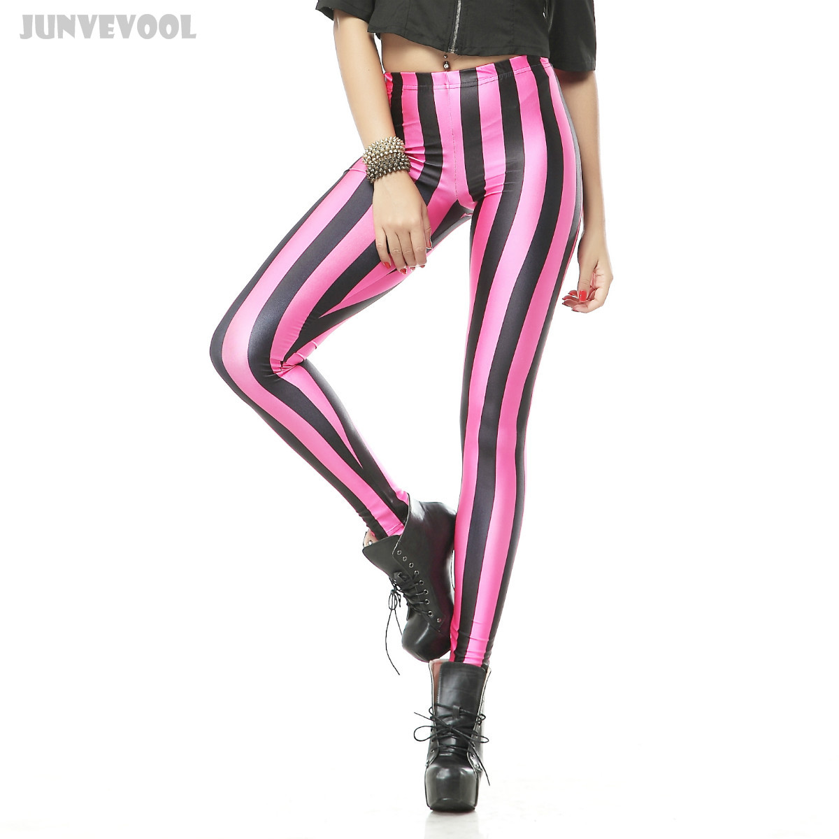Leggings   Xxxl Women Pink Vertical Stripes Red Black Color Patchwork 3D Graphic Print Skinny Stretchy Runner Fitness Soft Pants