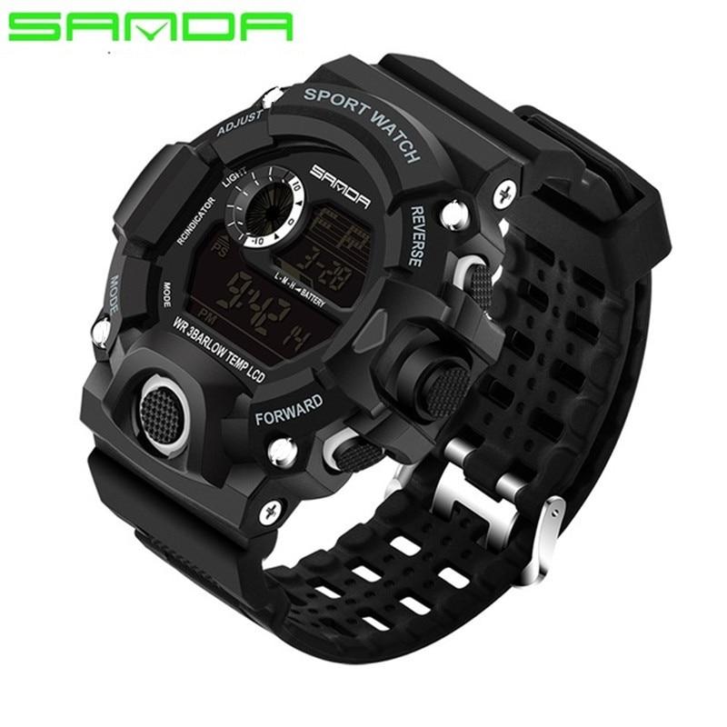 SANDA Merkhorloge Herenmode LED Digital Military Sport horloge - Herenhorloges - Foto 5