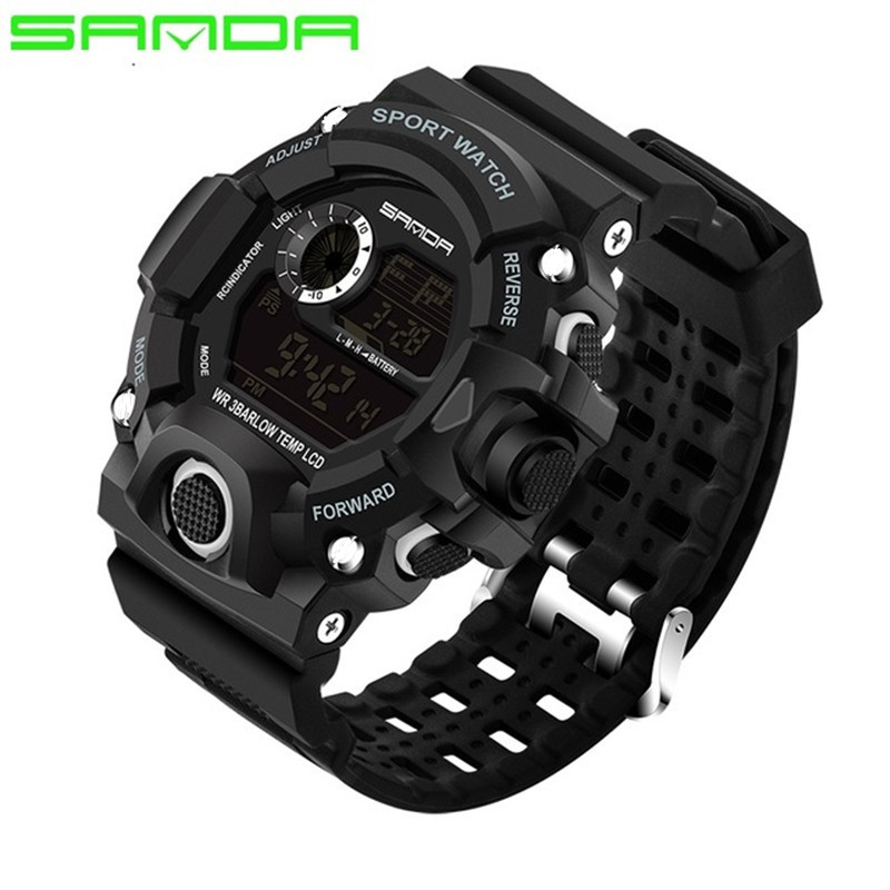 SANDA μάρκα ρολογιών ατόμων μόδας LED - Ανδρικά ρολόγια - Φωτογραφία 5