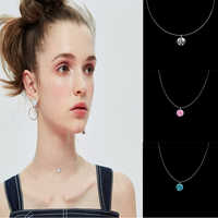 iMucci Necklace  Women  Invisible Transparent  Link Chains Necklaces  Pendant iMucci Trendy  Link Chain  Crystal
