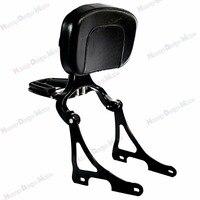 Gloss Black Fixed Mount&Driver Passenger Backrest For Harley 2004 2018 Sportster XL Iron 883 1200 48