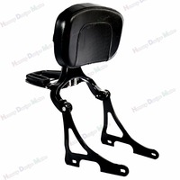 Gloss Black Fixed Mount&Driver Passenger Backrest For Harley 2004 2018 Sportster XL Iron 883 1200 48