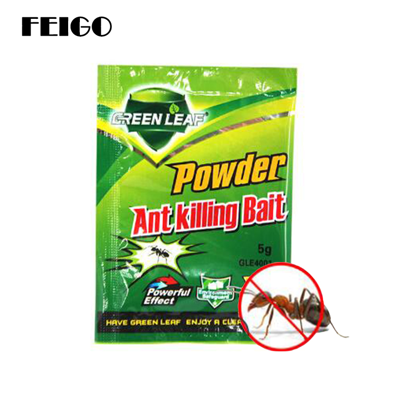 Feigo 3pcs Powerful Ant Baits Drug Powder Killer Insect Net Bait Reject Catcher Pest Control Repeller Pests Kill Black Ants F142