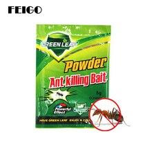 Feigo 20 pçs poderoso formiga iscas drogas em pó assassino inseto net isca rejeitar coletor controle de pragas repelente pragas matar formigas pretas f53