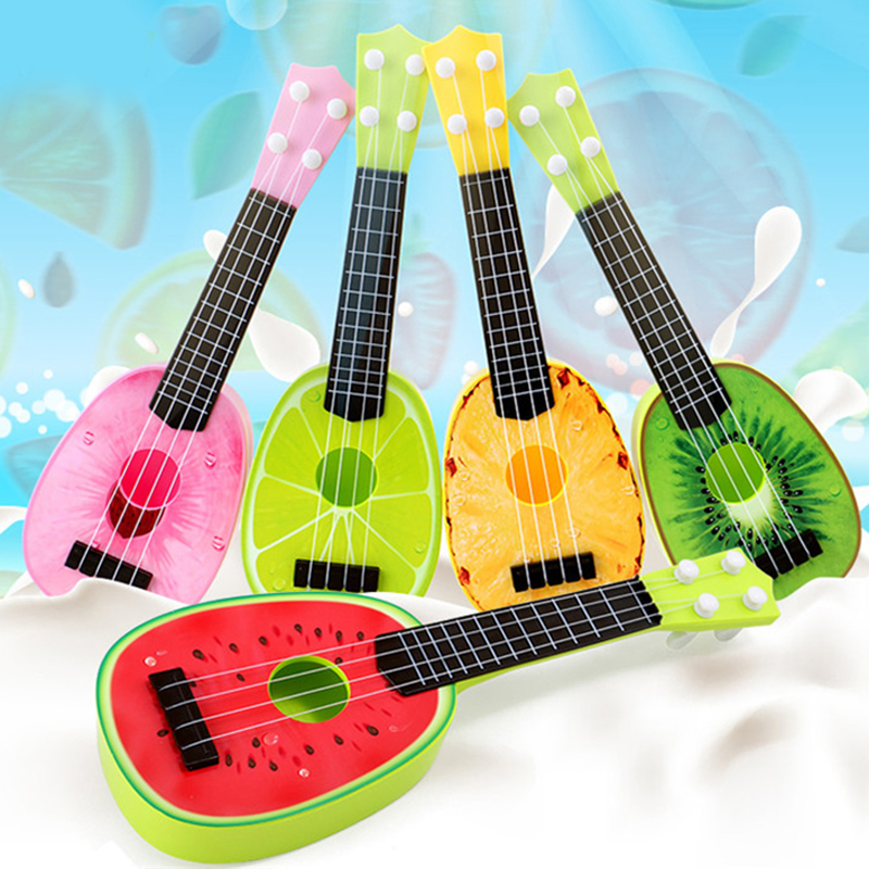 Peradix Cute Toy Guitar Fruit Pattern Children Simulation Educational Brinquedo