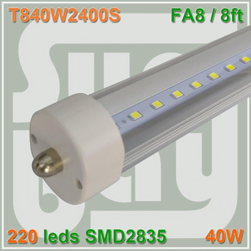 25pcs lot Free Shipping font b LED b font font b TUBE b font 8ft 2