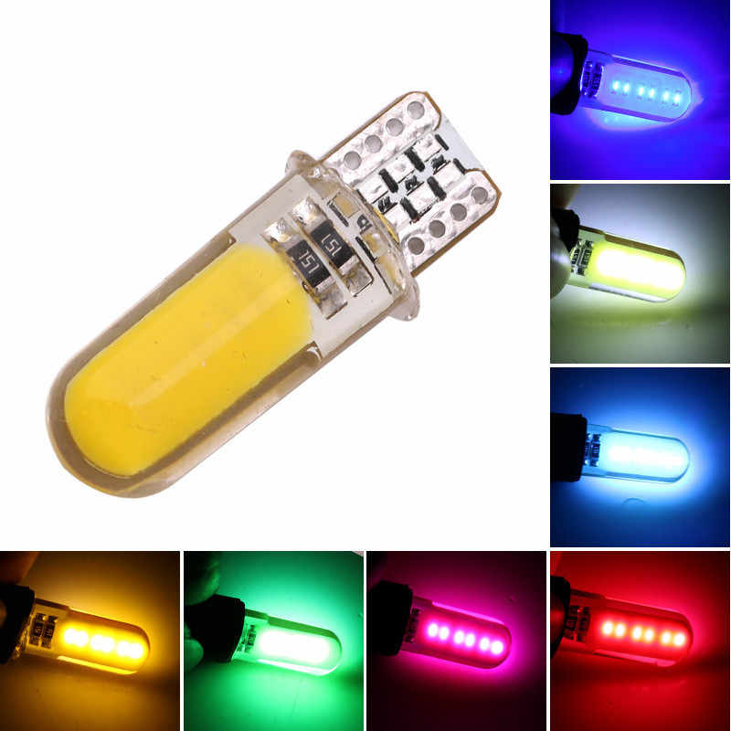 1PC Auto T10 Led Cold White 194 W5W LED 168 COB Silica Car Turn Side License Plate Light Lamp Bulb DC 12V