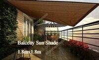 UV Rectangle Sun Shade Sail Balcony shade net Insulation Network 1.8mX1.8m