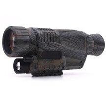 Big discount New Arrival Hunting Optics 5X40 Powerful Infrared Spotlight Dark Night Vision Monocular Telescopes Scope Adjustable Eyepiece