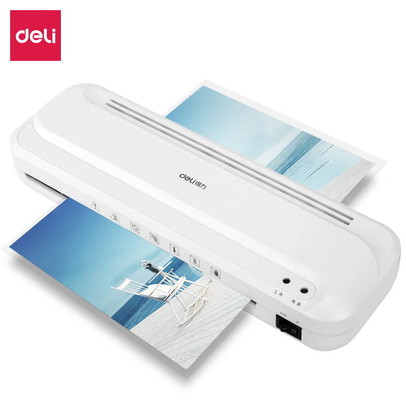 Deli Portable photo Laminator Machine Paper/File/Picture ]/Card/Document Film Thermal Laminating Machine Paper Trimmer Cutter