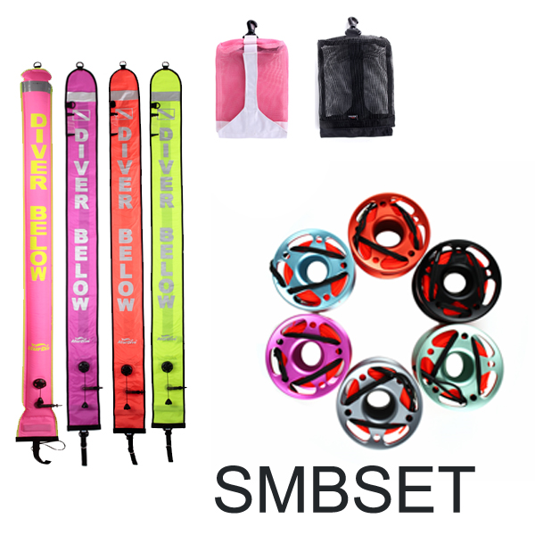 diving smb submersible like reel wraps combination bundle equipment bag net bag portable set SMB diving