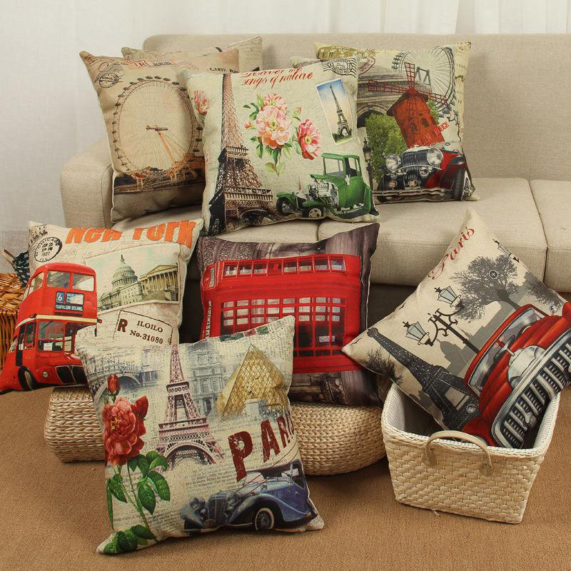 Super Fashion Vintage Europe Style Sofa Car Seat Back Decorative Cushion Home Decor Throw Pillow Pad Fundas De Cojines HH1439