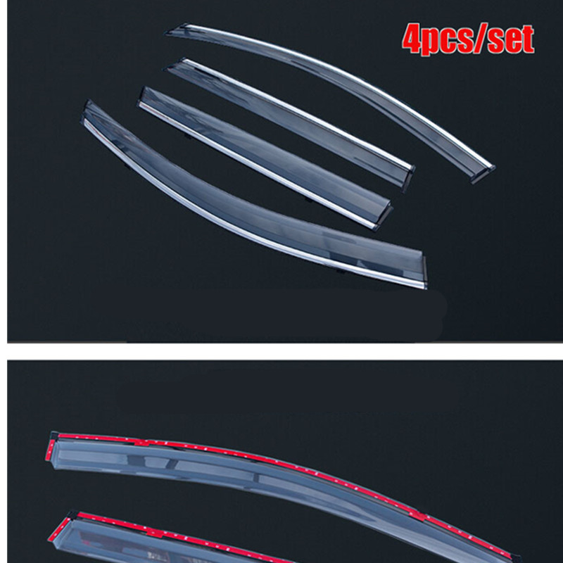 Car styling ACCESSORIES FOR 2014- 2016 NISSAN QASHQAI SIDE WINDOW RAIN DEFLECTORS GUARD VISOR WEATHERSHIELDS DOOR SHADE WEATHER fit for 14 nissan rogue x trail t32 window rain deflectors visor weather shields lf