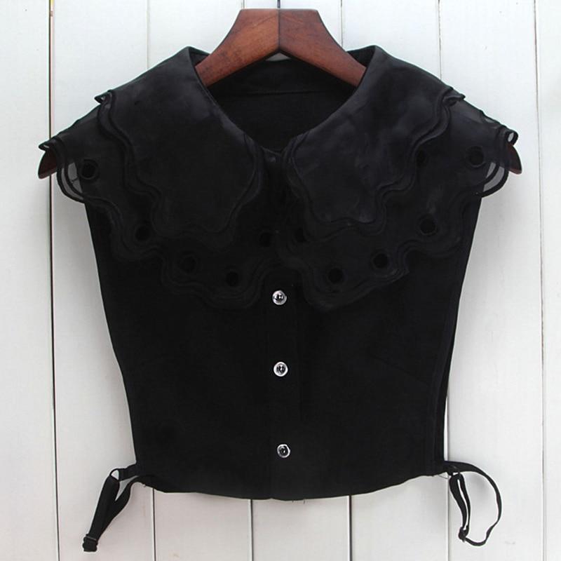 Women Detachable Hollow Embroidery Lapel Fake Collar False Blouse Clothing Accessories -MX8