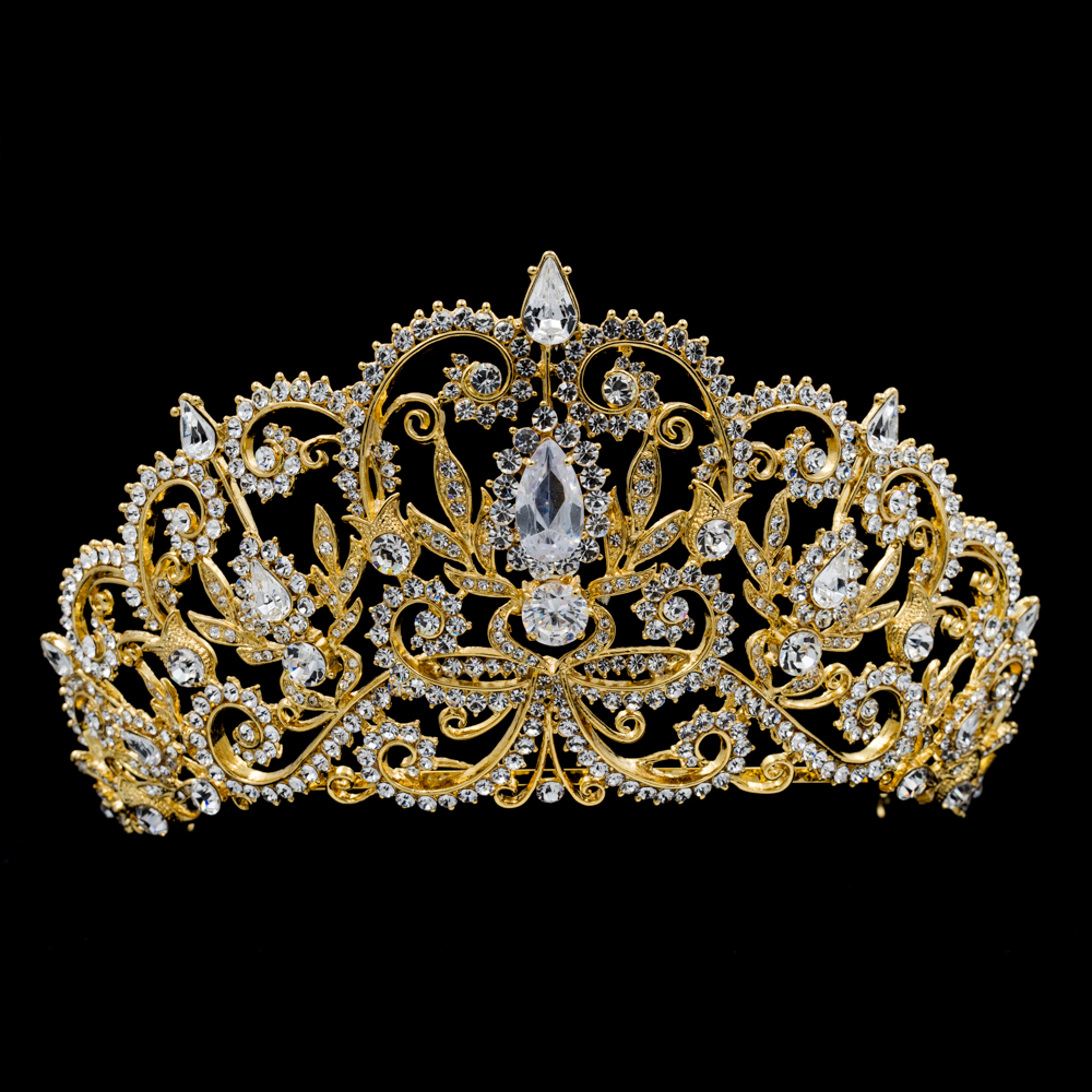 real austrian crystals rhinestone bridal tiara royal crown