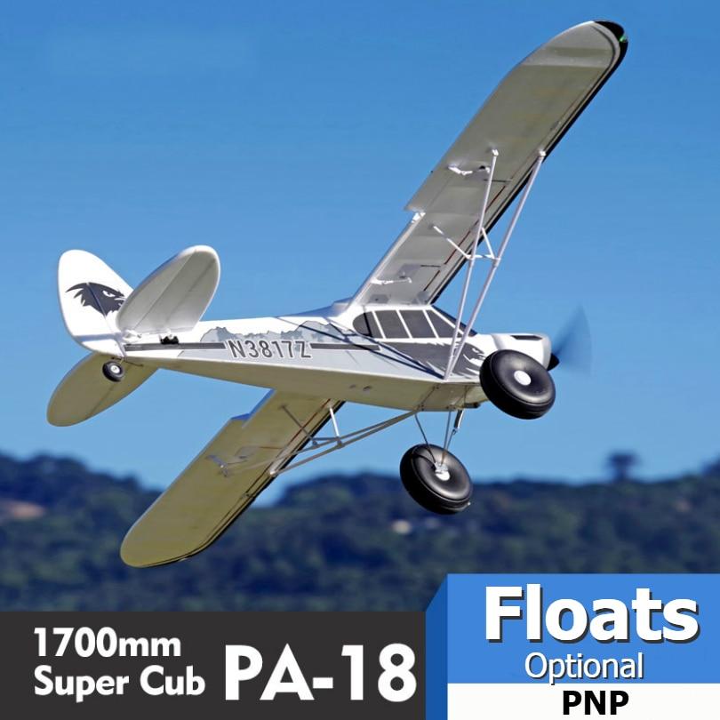 FMS RC avion 1700 MM 1.7 M PA-18 J3 Piper Super Cub 4 S 5CH (flotteurs en option) PNP formateur débutant modèle avion avion PA18 J-3