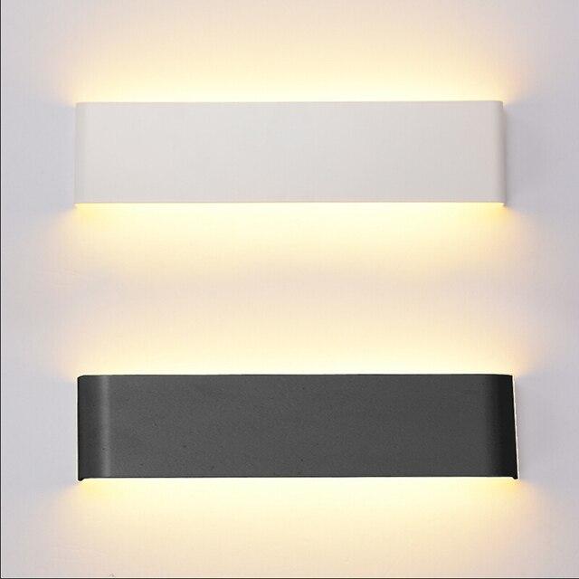 110V220V LED Applique da parete Nero/Bianco Moderno Semplice ...