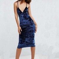 Real photo fluwelen lengtes maxi slip dress voor vrouw herfst winter casual harnas jurken v-hals hoge kwaliteit