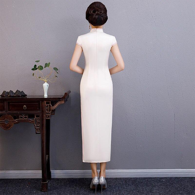 Robes S D'été Mince Qipao Mandarin Femmes Chinois 2019 Rayonne 19007 De Longue Col Style Nouveau 19006 Mode Partie 4xl Robe Cheongsam TnqFaxPp1