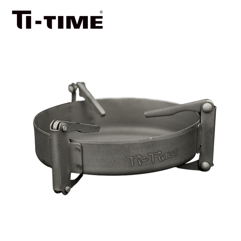 Ti-time Outdoor Camping Titanium Solid Fuel Stove Portable Light Weight Stainless Foldable Mini
