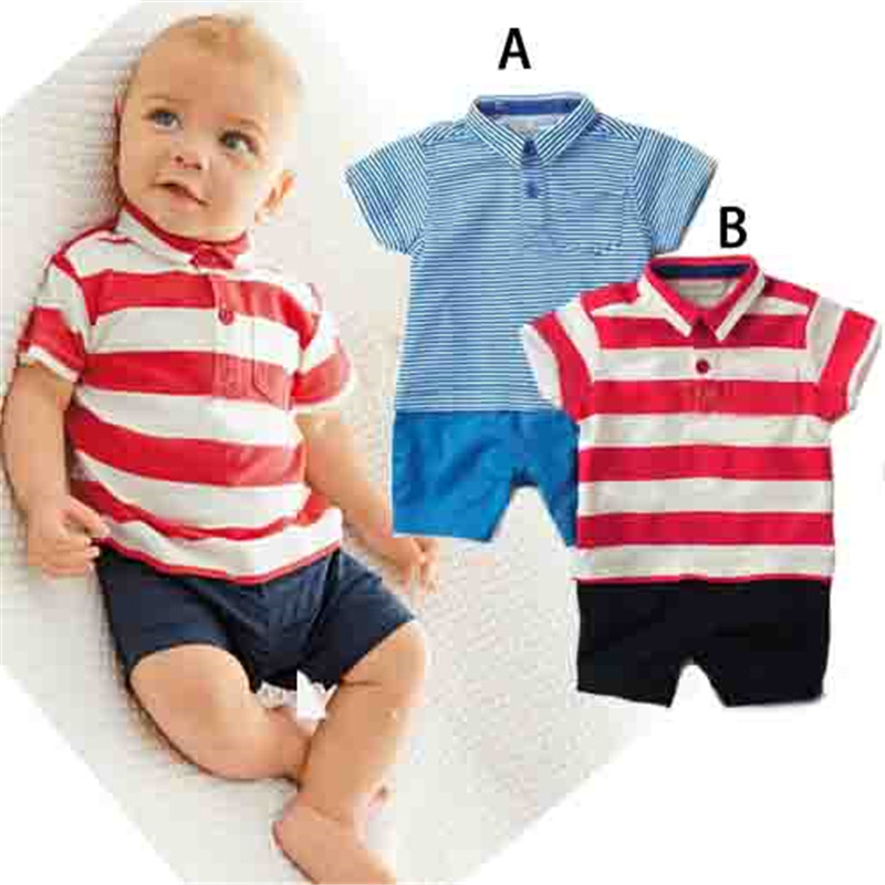 Baby Rompers Summer Baby Boy Clothing Sets 2017 Newborn Baby Clothes Roupas Bebe Infant Jumpsuits Kids T-shirt + Shorts summer 2017 navy baby boys rompers infant sailor suit jumpsuit roupas meninos body ropa bebe romper newborn baby boy clothes