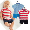 Summer Baby Boy Rompers Striped Toddler Baby Clothing Sets Newborn Baby Clothes Roupas Infant Jumpsuits Boys T-shirt + Shorts