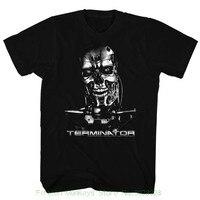 Printed Men T Shirt Clothes Terminator Chrome Black Men S Adult Short Sleeve T Shirt