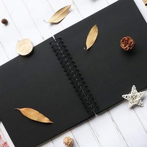 Image 5 - 31.5x21 cm 40 unidades/80 páginas papel preto, scrapbook, convidado de casamento, livro, diy, aniversário, viagem, reserva de memória álbum de fotos