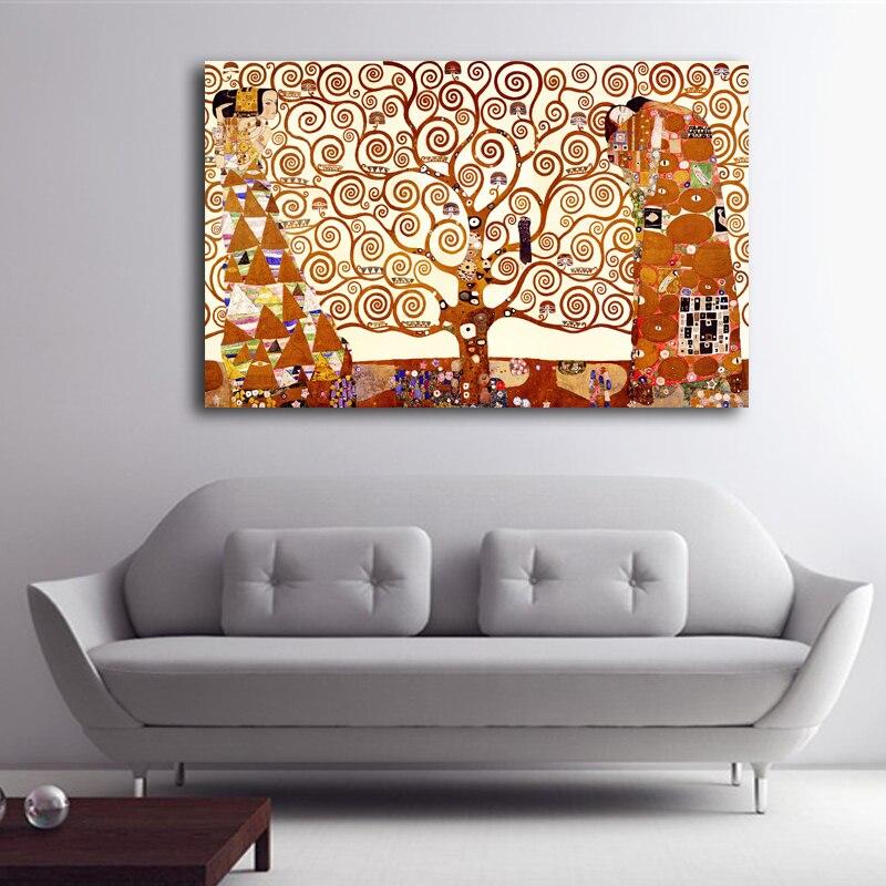 Zz1597 Wall Art Decoration Painting Gustav Klimt Big Tree: Aliexpress.com : Buy Free Shipping Austria Gustav Klimt