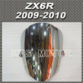 Motorcycle For Kawasaki ZX6R 2009 2010 09 10 Windshield/Windscreen Silver Motorcycle Accessories