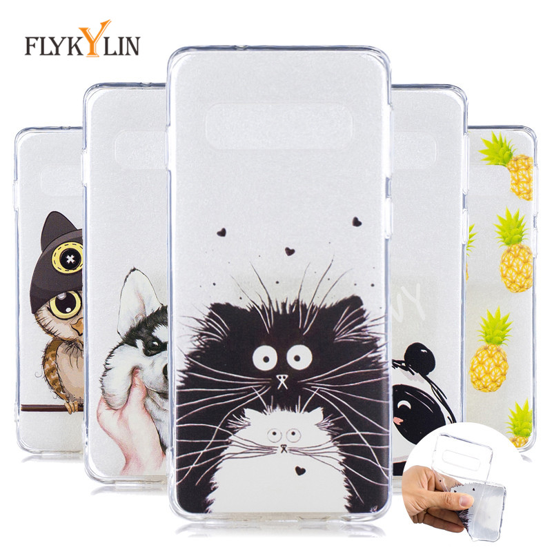 S10 Soft TPU Cases For Samsung Galaxy S10 Plus Case Cute Owl Panda Cover for Samsung Galaxy S10E S10 E S8 S9 Plus Phone Cases