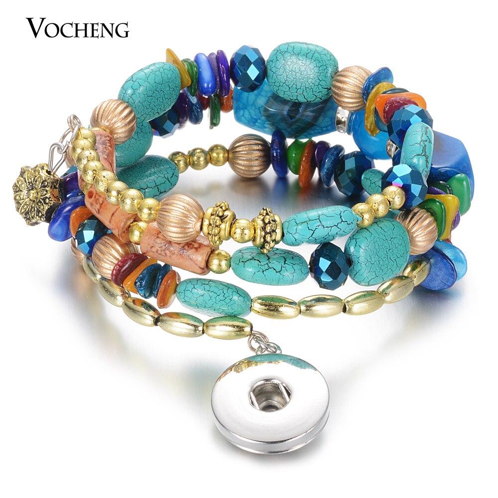 10pcs/lot New Steel Wire Elastic CCB Material Bead 18mm Snap Bracelet Handmade Women Girl Friendship Bracelet Jewelry  NN-732*10