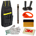 Car Window Film Tint Tool Kit 3M Gold Squeegee, Zippy Vinyl Cutter, Magnet Holder, Tool Bag, Cutting Knife & Gloves AT019