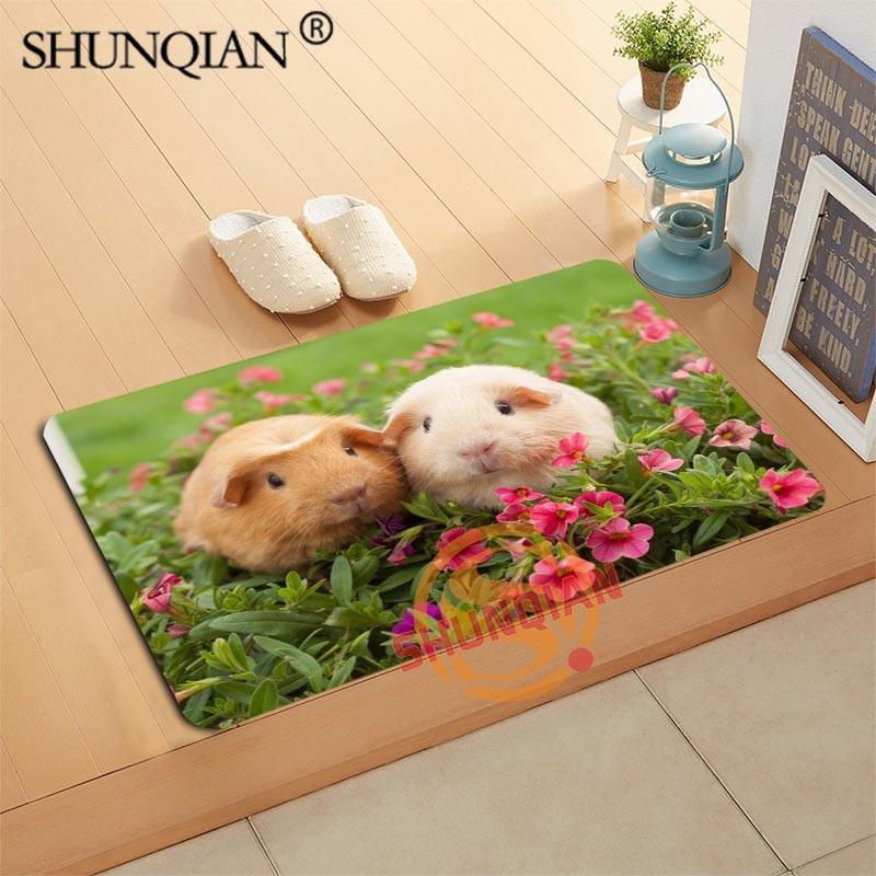 Guinea Pig Doormat Custom Your Mats Print slip-resistant Door Mat Floor Bedroom Living Room Rugs 40x60cm 50x80cm