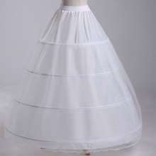 Wedding Petticoat 4 Crinoline Slip Underskirt Bridal Dress Hoop Vintage Slips FSM-015P